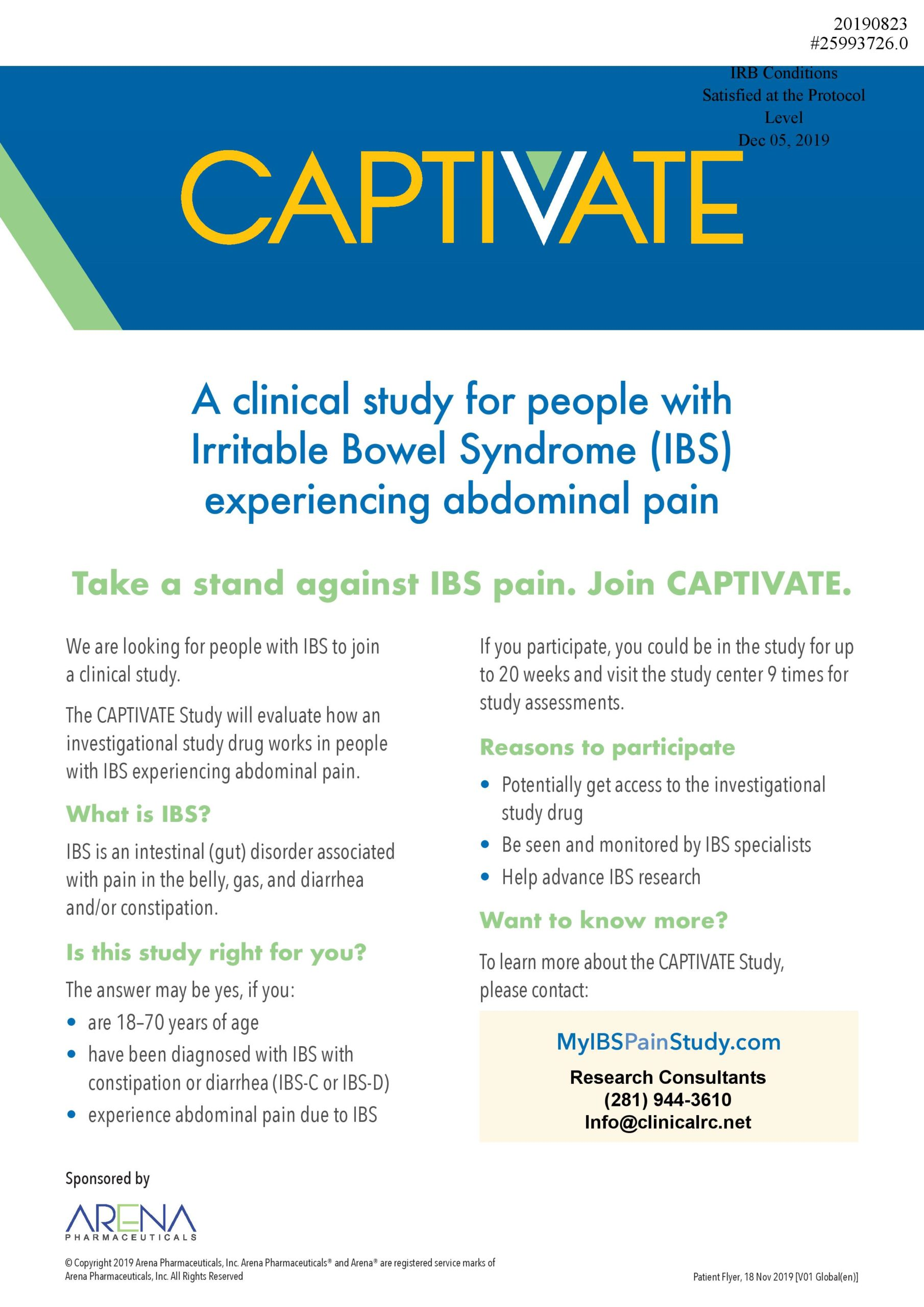 Advertisement - Flyer - CAPTIVATE A clinical study for #25993726.0 - As Submitted-page-001